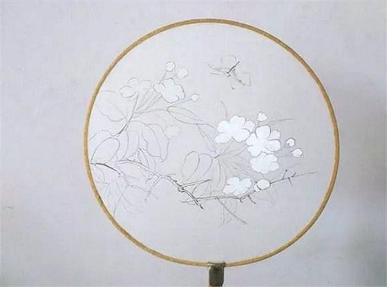 简单易学的团扇绘画方法