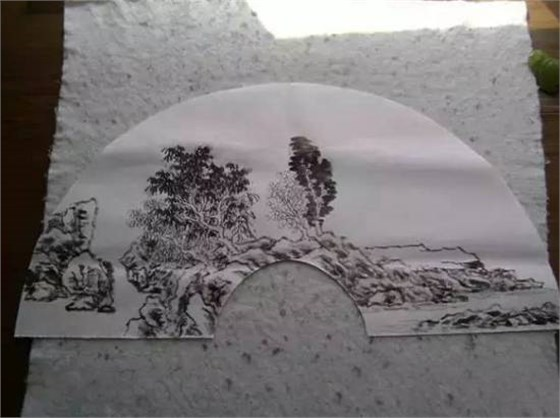 折扇山水画扇面绘制方法与步骤