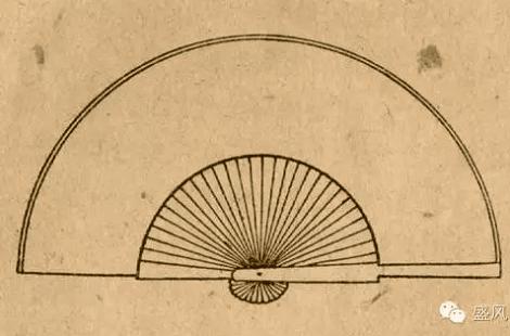檀香折扇图片