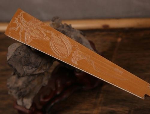 中国传统雕刻艺术品竹刻扇骨