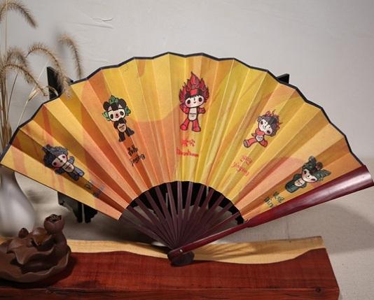 2008年北京奥运会定制的福娃折扇