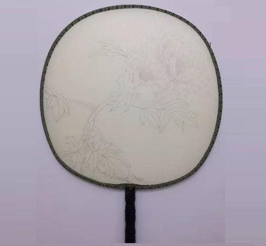 行业资讯 用空白宫扇绘制牡丹花教程     牡丹花花卉图案团扇手绘教程