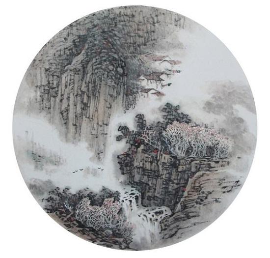 水画团扇的艺术特点图片