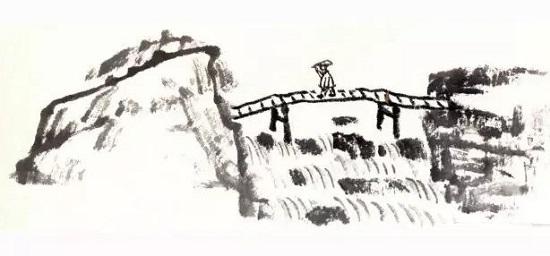 团扇风景画画法步骤讲解