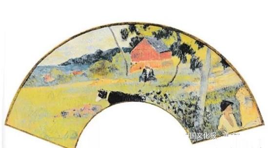 谈外国折扇手绘画