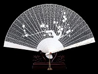 象牙色工艺木制折扇的制造方法