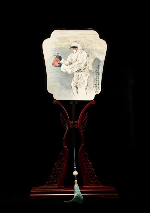 战疫人物 | 盛春与她的苏扇艺术