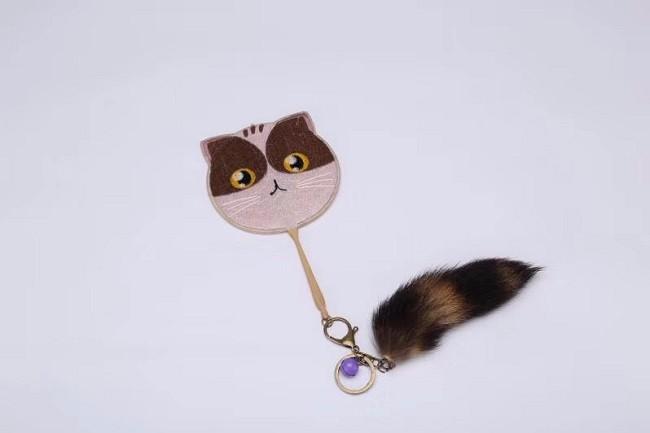 双面古典刺绣小团扇可爱动物造型