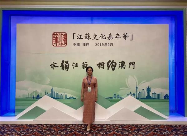 中国制扇工艺大师盛春参加2019江苏文化嘉年华