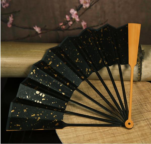 日式倒四六玉竹折扇