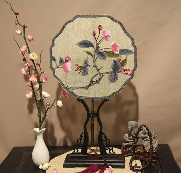 紫竹炳缂丝团扇