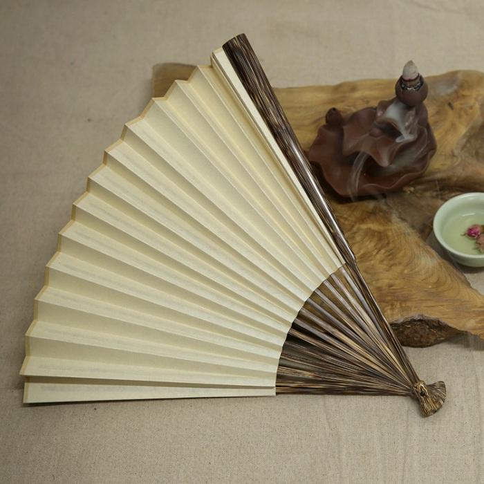 多头型棕竹折扇