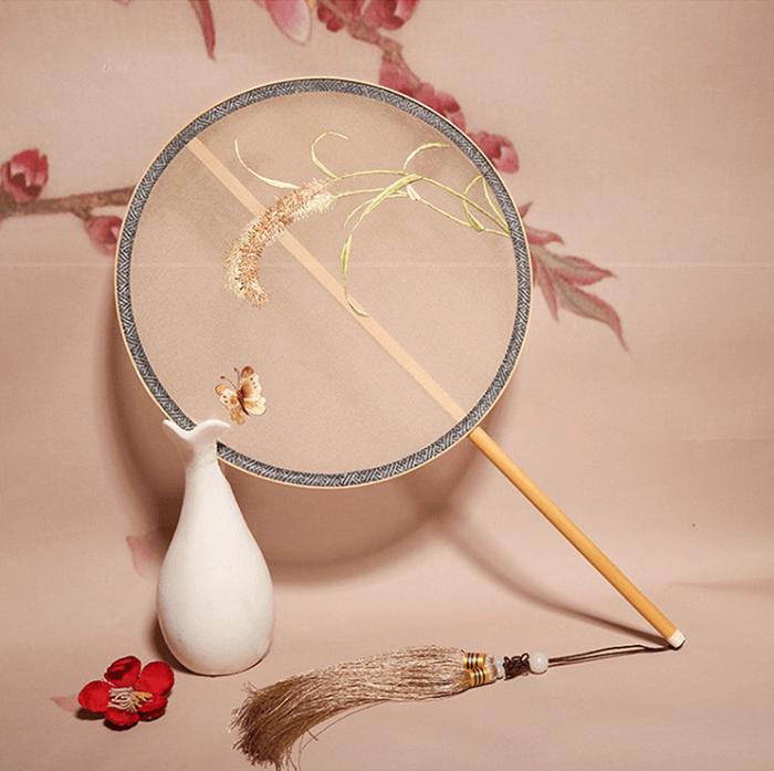 20cm直径刺绣团扇