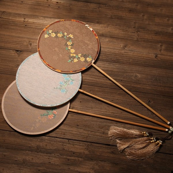 DIY手绘团扇长柄