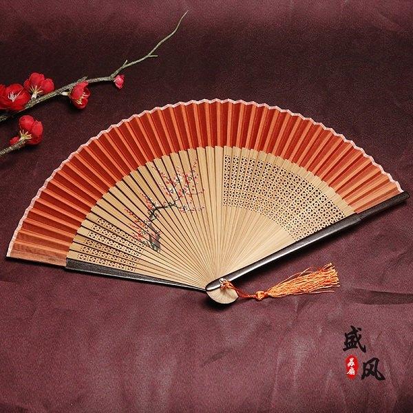 中国风女式绢布折扇