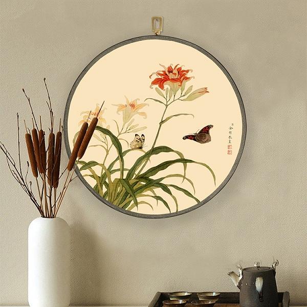 中式花鸟画装饰团扇