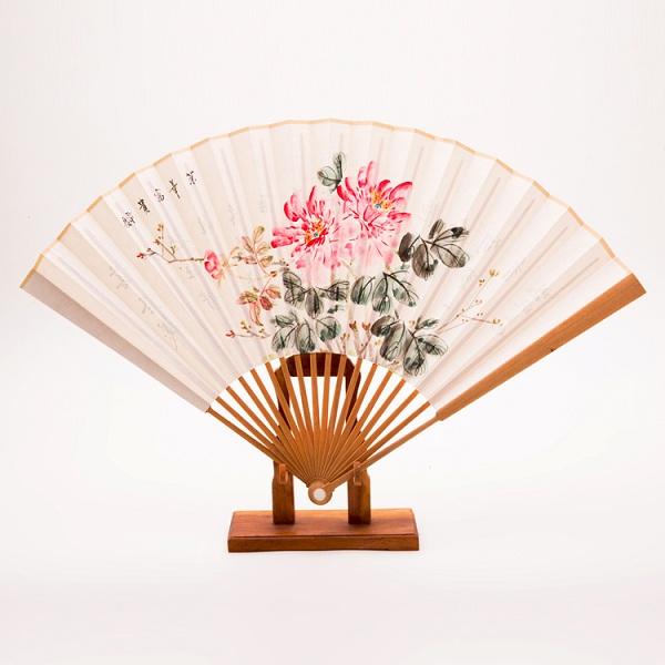 高档檀香木书画折扇