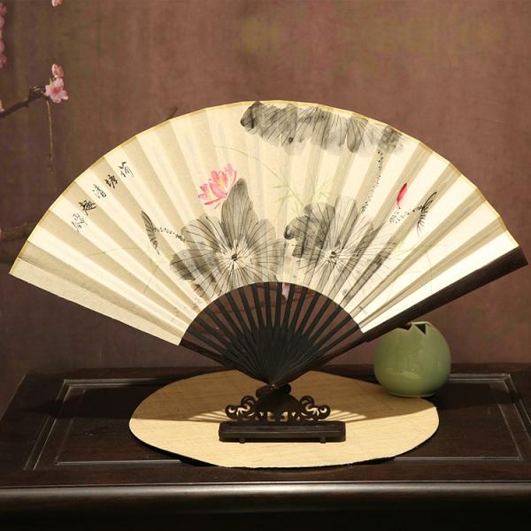 中国风宣纸手绘折扇