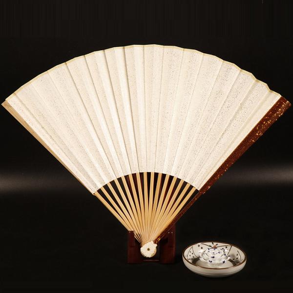 极品红豹纹竹折扇
