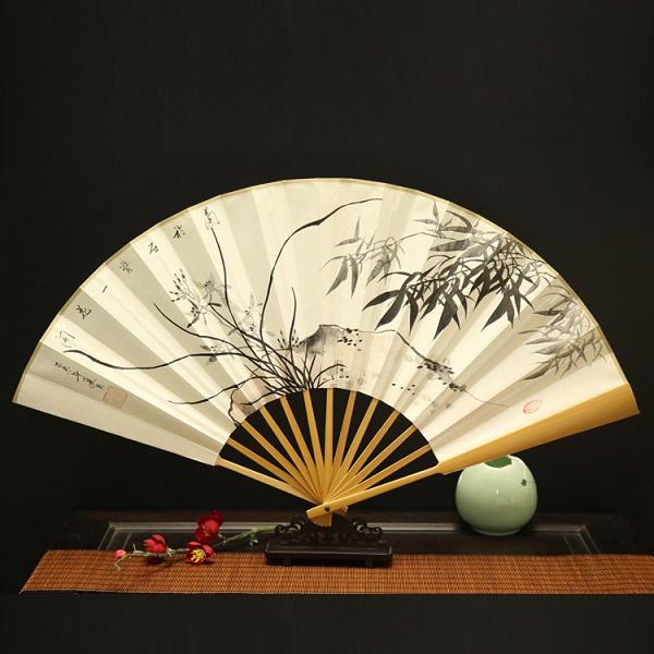 玉竹手绘折扇梅兰竹菊系列