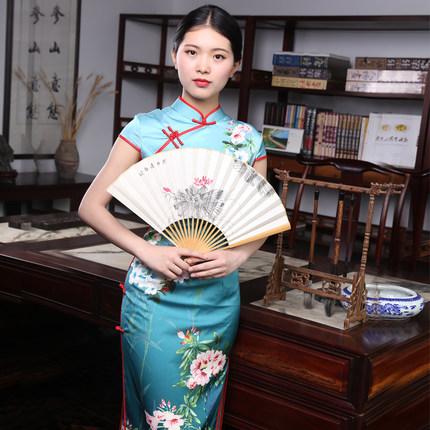 中国风玉竹手绘折扇